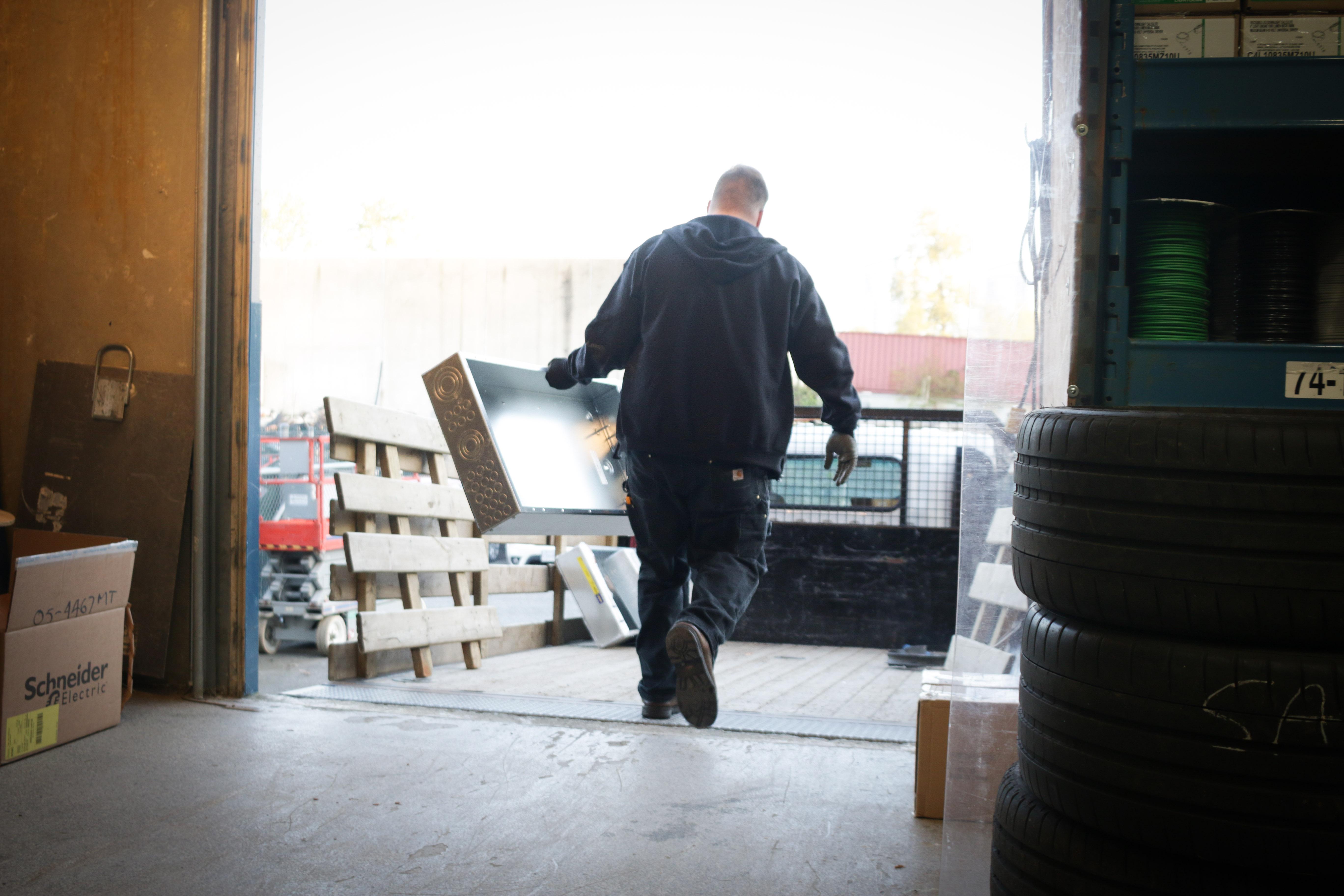 Sasco Employee loading truck