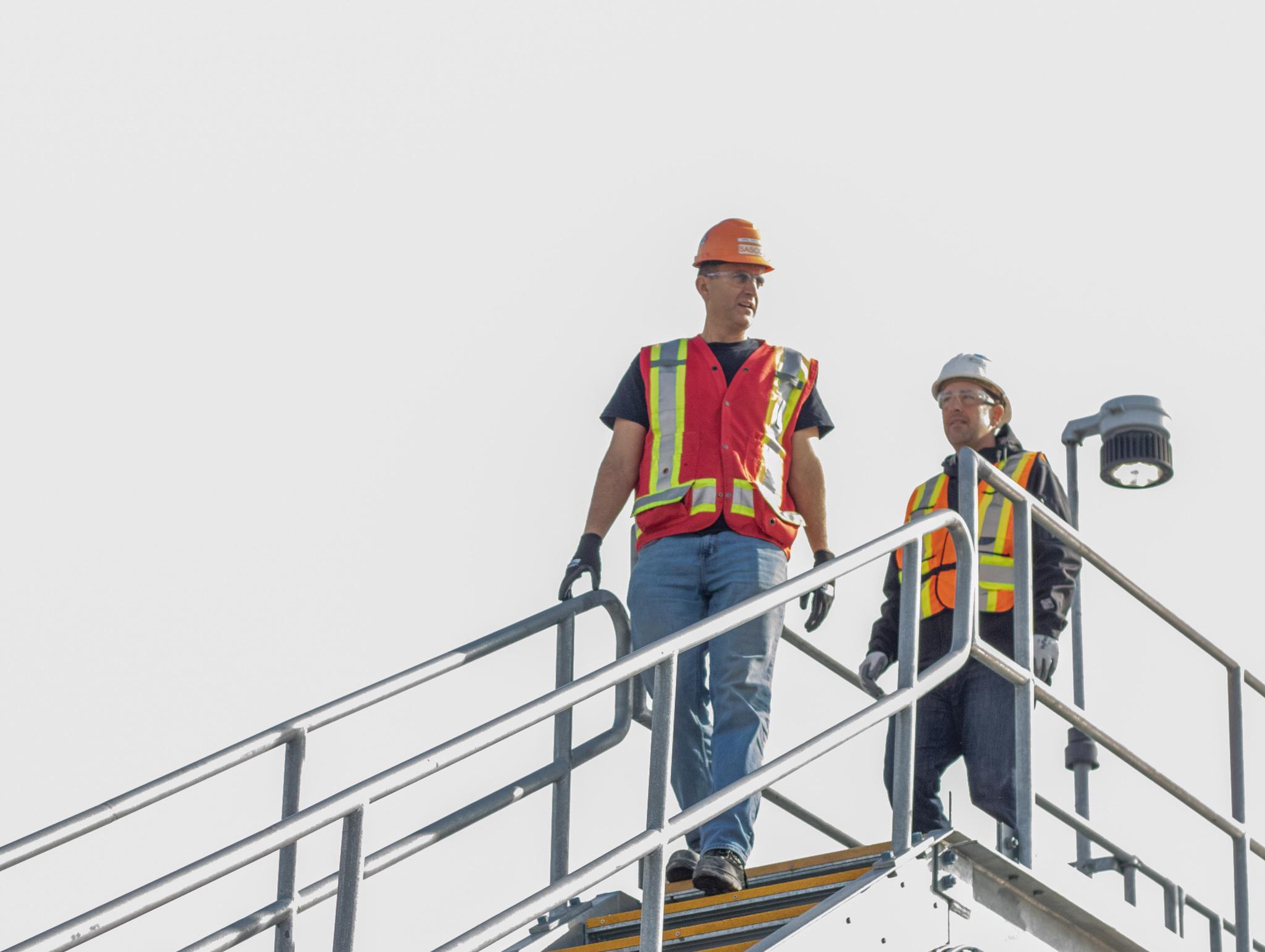Two Sasco Employees At a job site