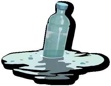 floating plastic water bottle cartoon