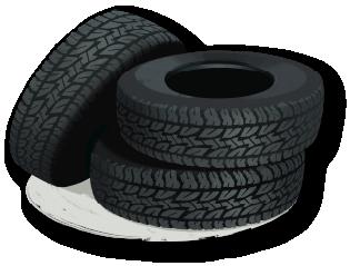 stack of car tires cartoon