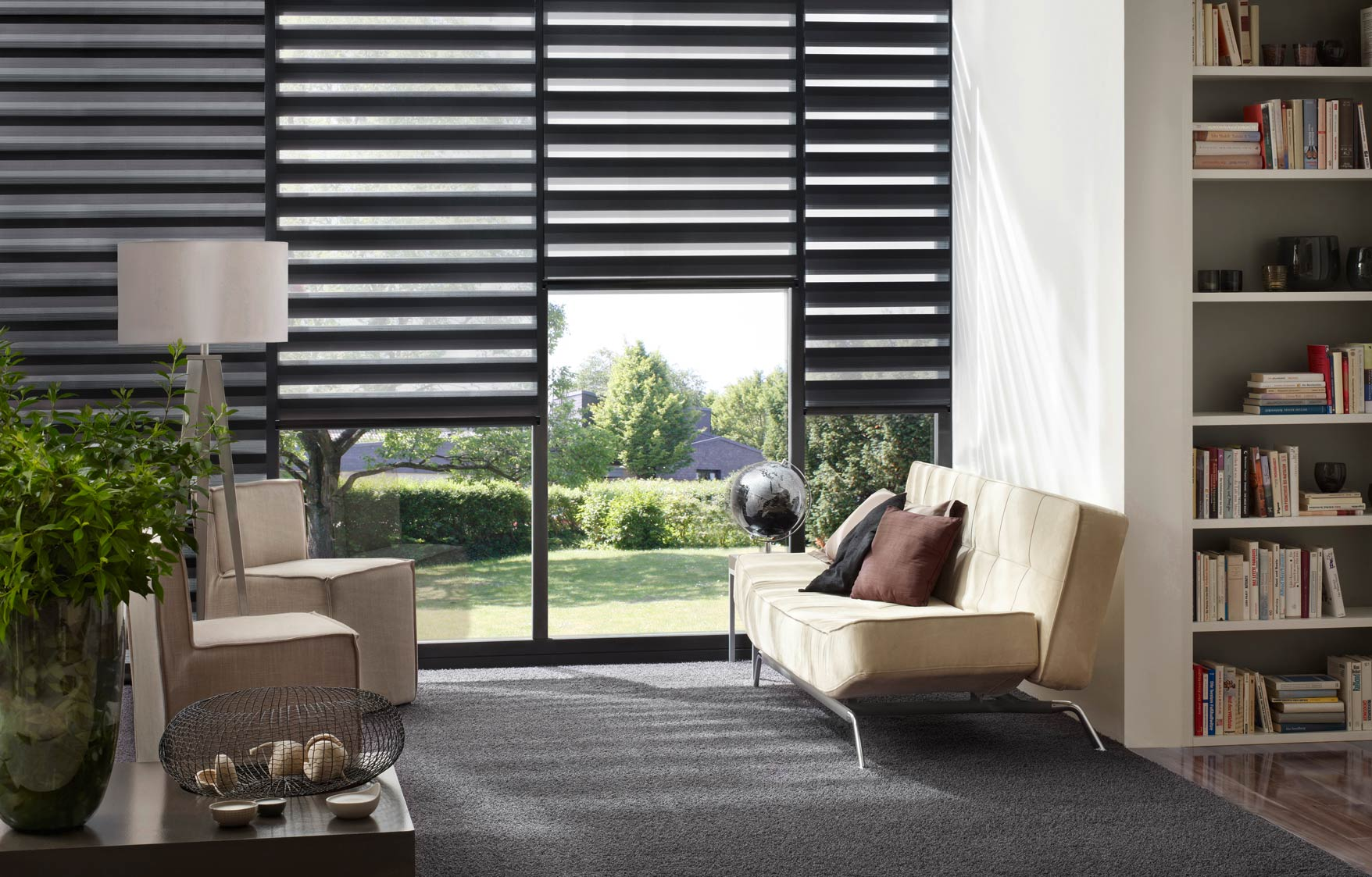 Interior of Modern Room with Blinds