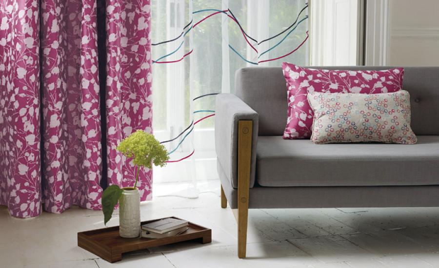Dark Pink Curtains