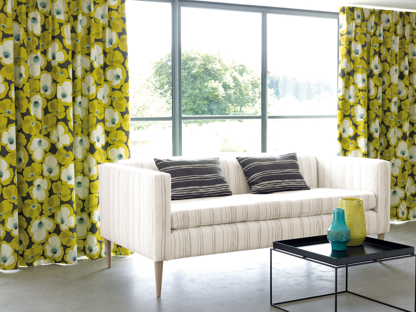 Yellow Flowers Curtains
