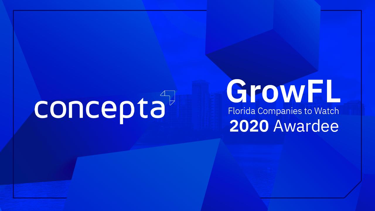concepta logo beside the grow florida logo