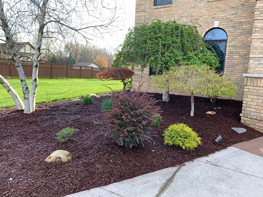 Landscape project in Louisville, OH