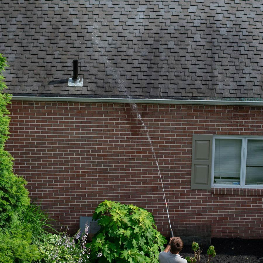 Roof cleaning in Louisville, OH