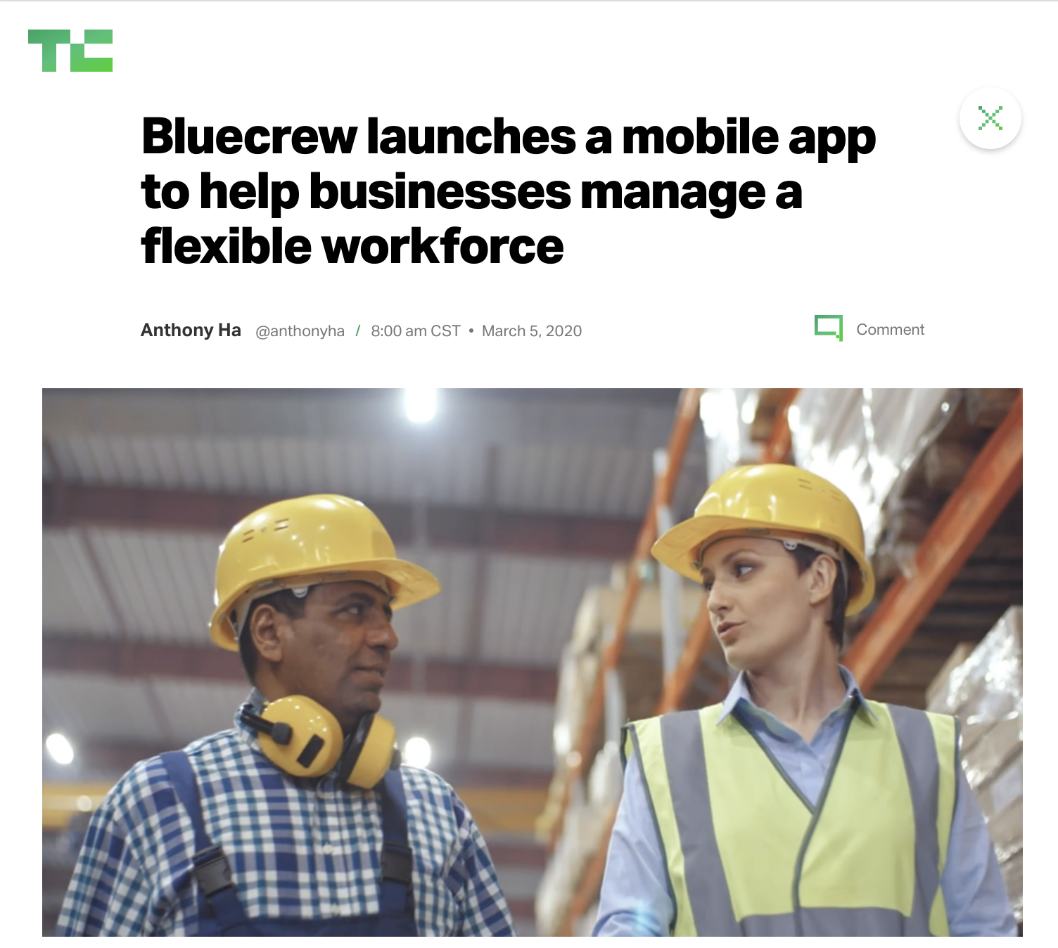 Bluecrew launches a mobile app to help businesses manage a flexible workforce
