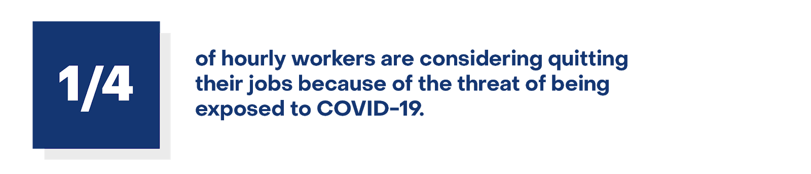 1/4 of hourly workers are considering quitting their jobs because of the threat of being exposed to COVID-19