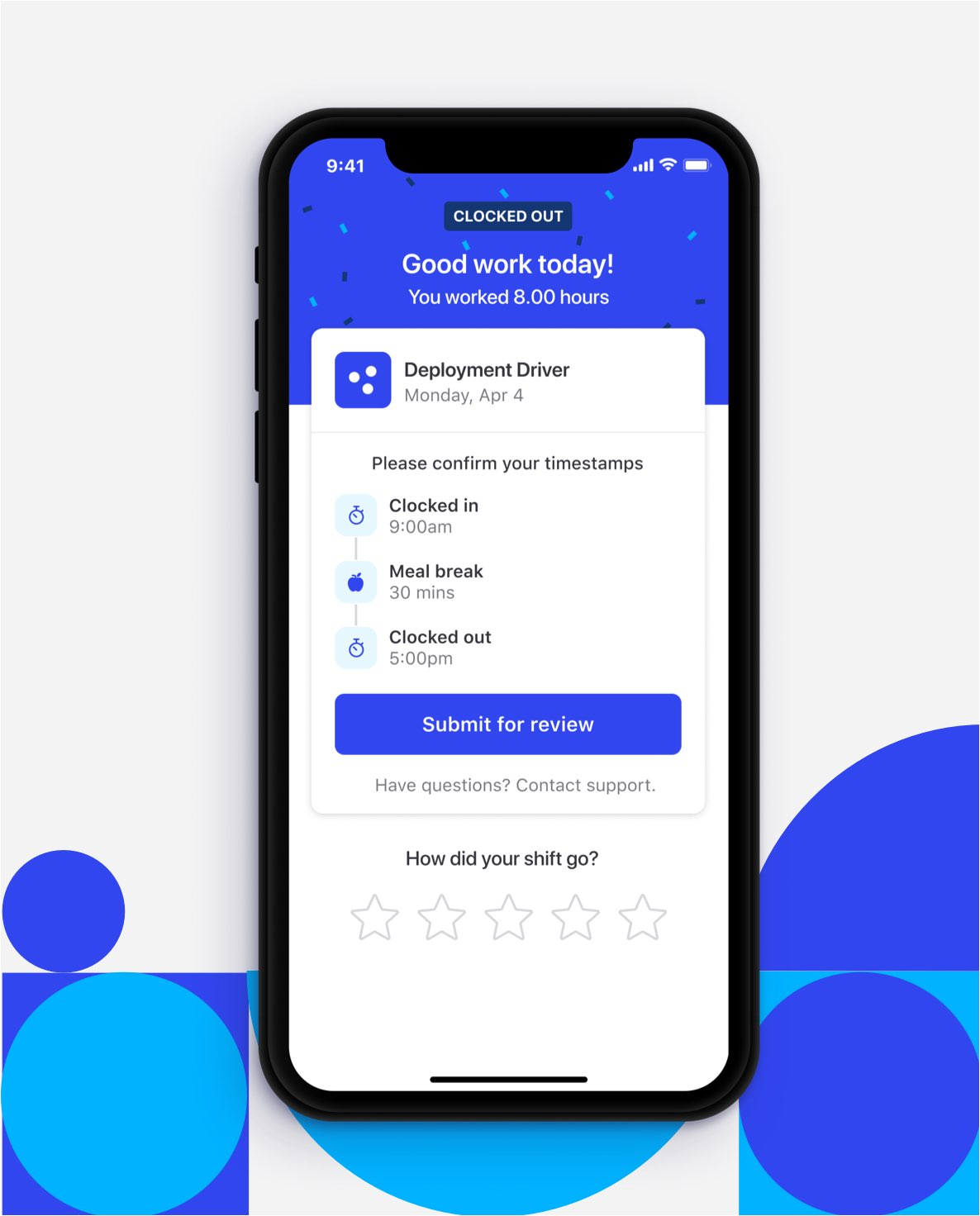 The Bluecrew app gives gig workers the ability to search for jobs and pick shifts they want to work