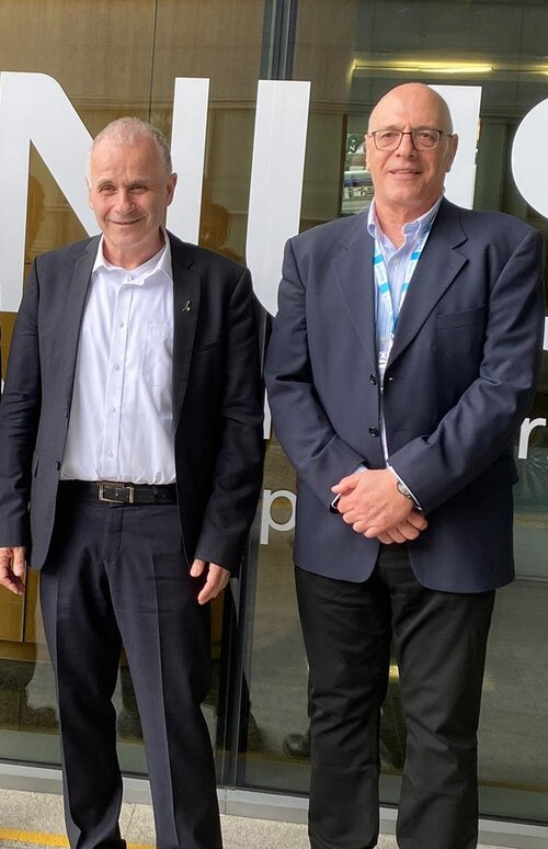 Prof Asher Cohen and SHARE's Director Prof Shlomo Sasson