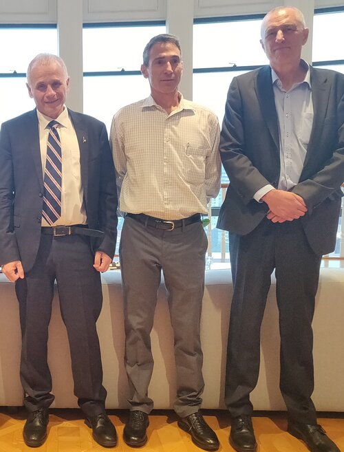 Prof Asher Cohen, The Israeli Ambassador Mr Sagi Karni and  prof David Engelberg