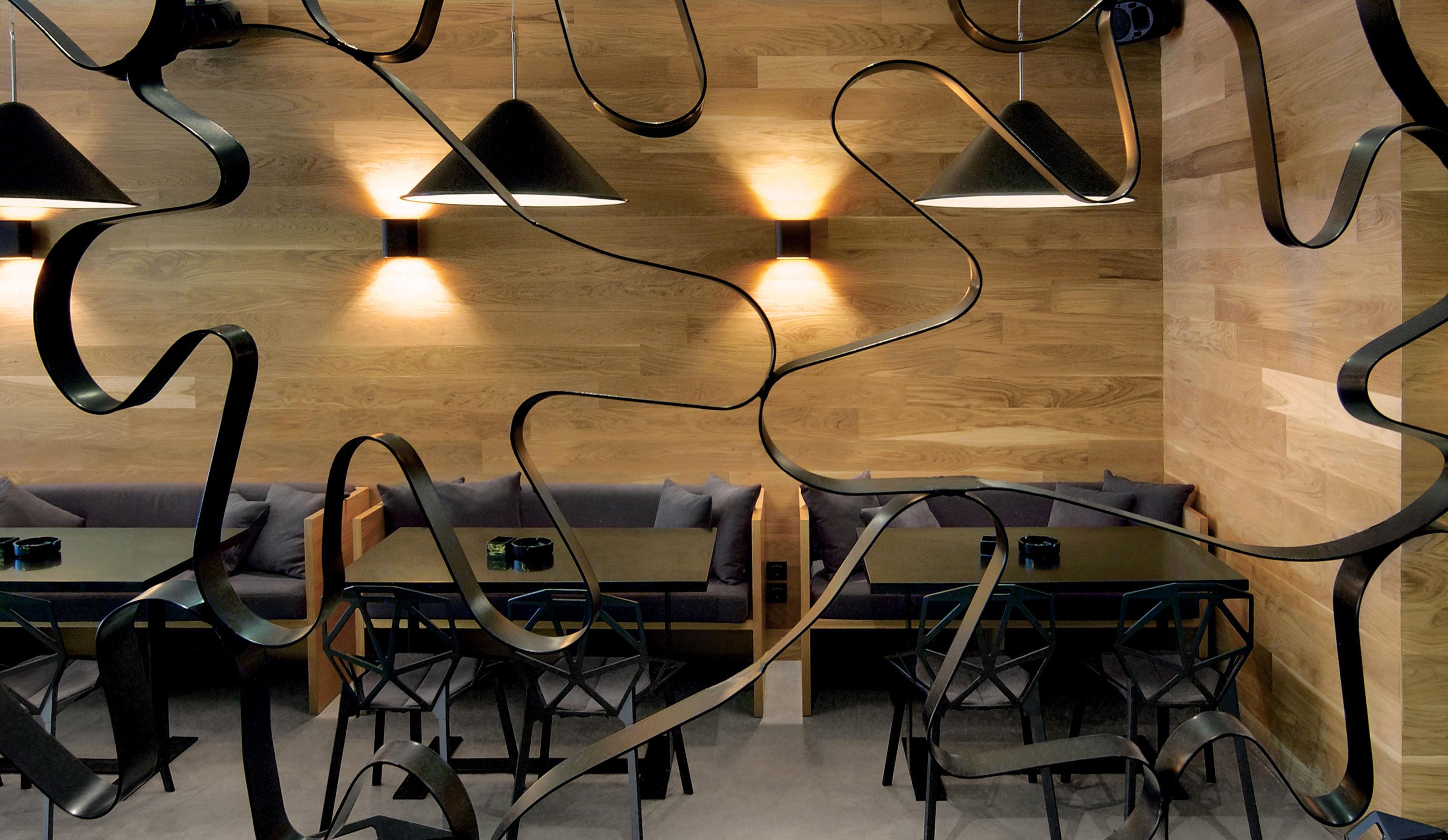Nest contemporary cafe restaurant designed by Reform Design, Cyprus.