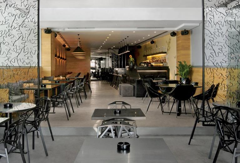 The interior design of Nest cafe bar restaurant by Reform.