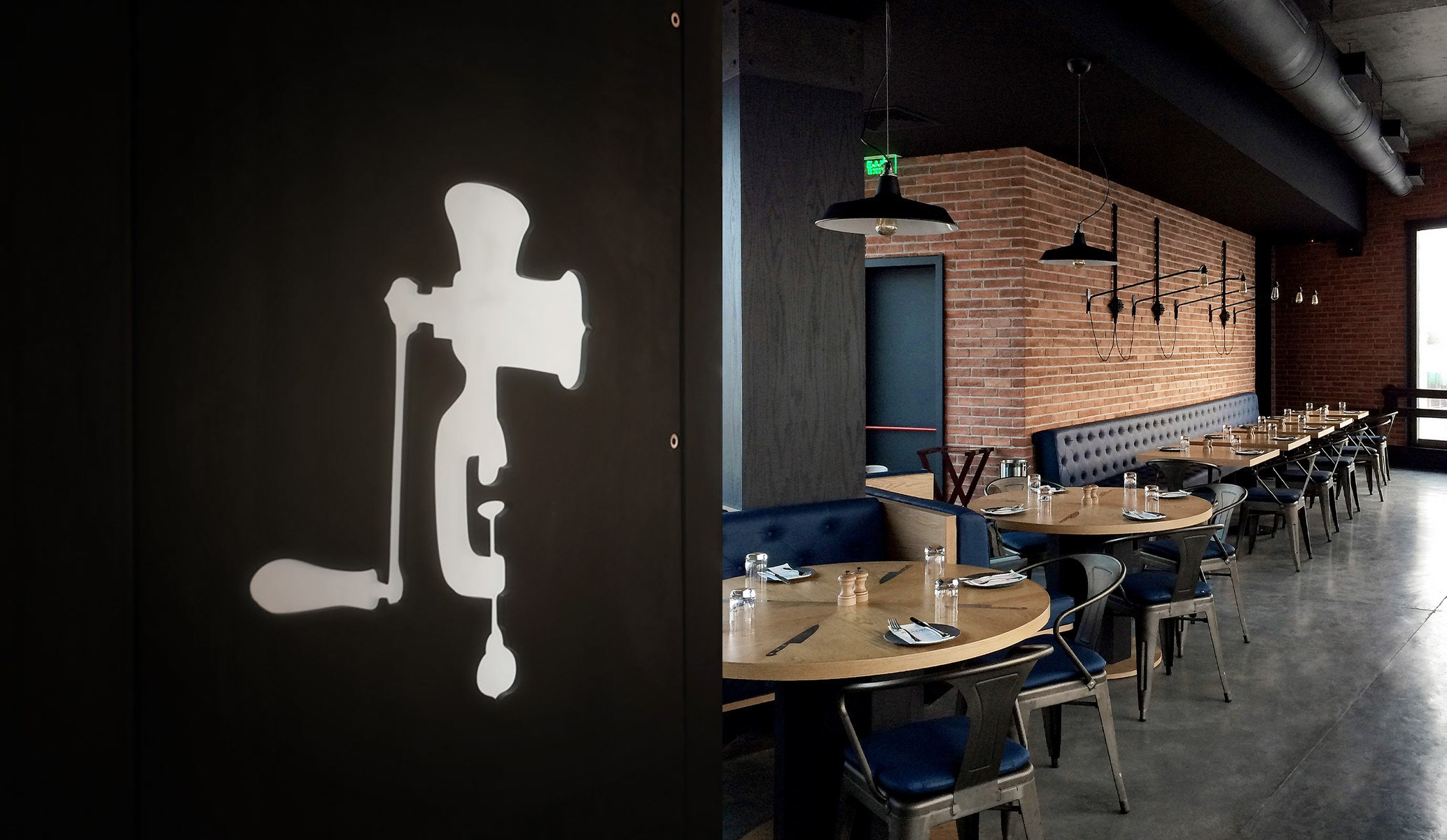 An industrial restaurant and bar design by Reform Design, Cyprus.