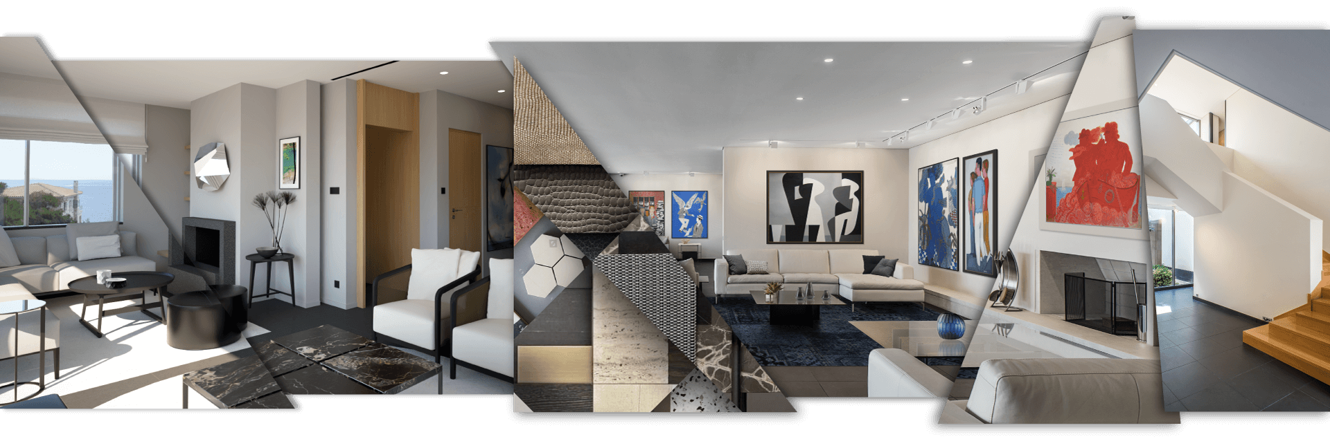 Interior design services in Cyprus - various contemporary and luxury residential interiors designed by Reform.