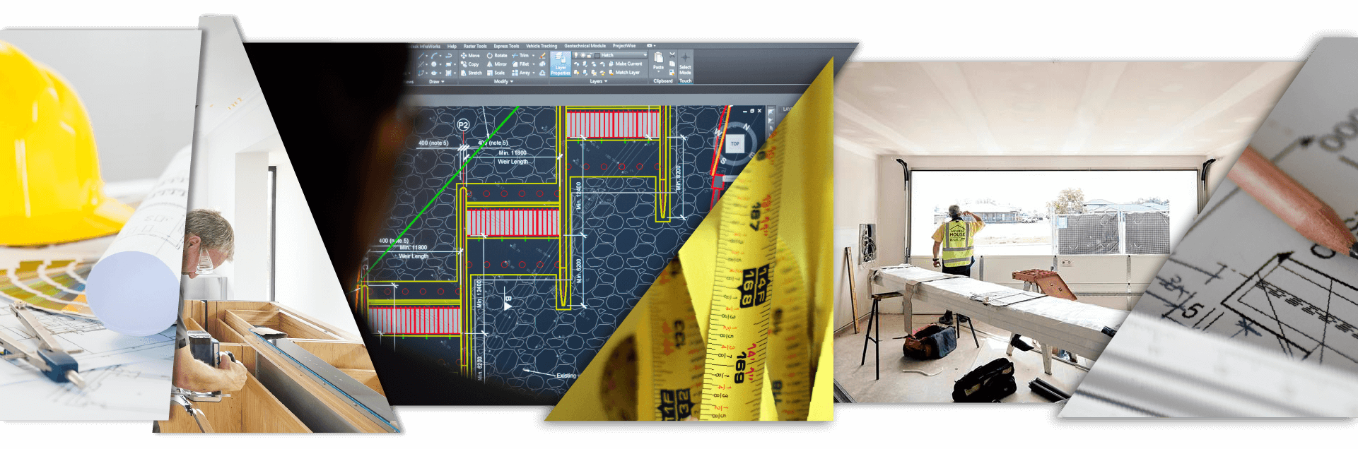 Client-side project management services in Cyprus - construction sites and technical drawings for some of Reform's projects.