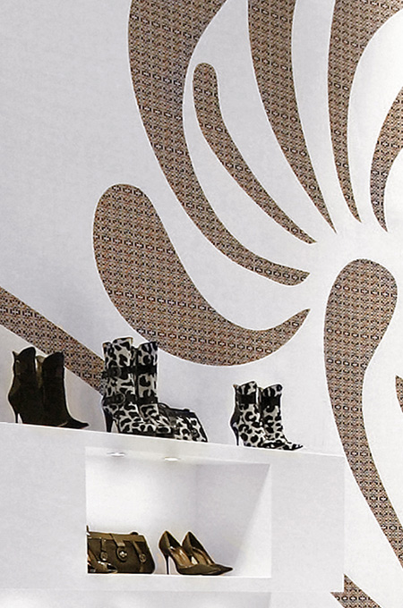 A minimalist retail design concept for a shoe franchise.