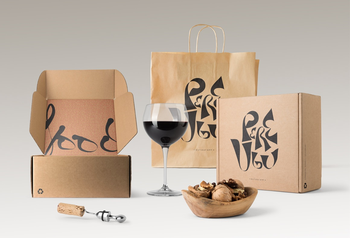 Branded delivery food packaging for Pere Ubu Restaurant.