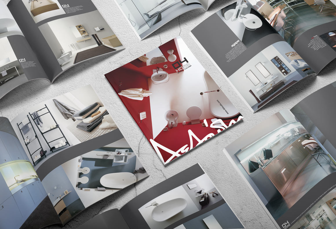 Multiple publication layout designs for Deloudis furniture catalogue.