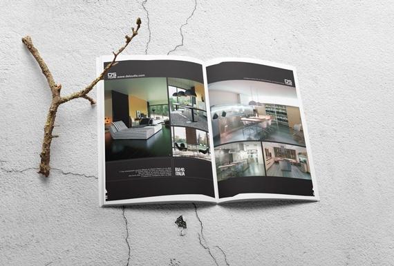 A catalogue design for Deloudis Furniture.