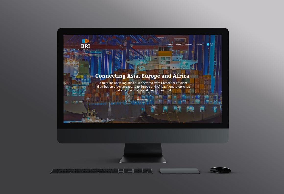 Custom website design and development services for BRI Greece by Reform Design, Cyprus.
