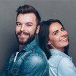 Photo of satisfied clients, Georgia Maragou and Yiannis Kordis.