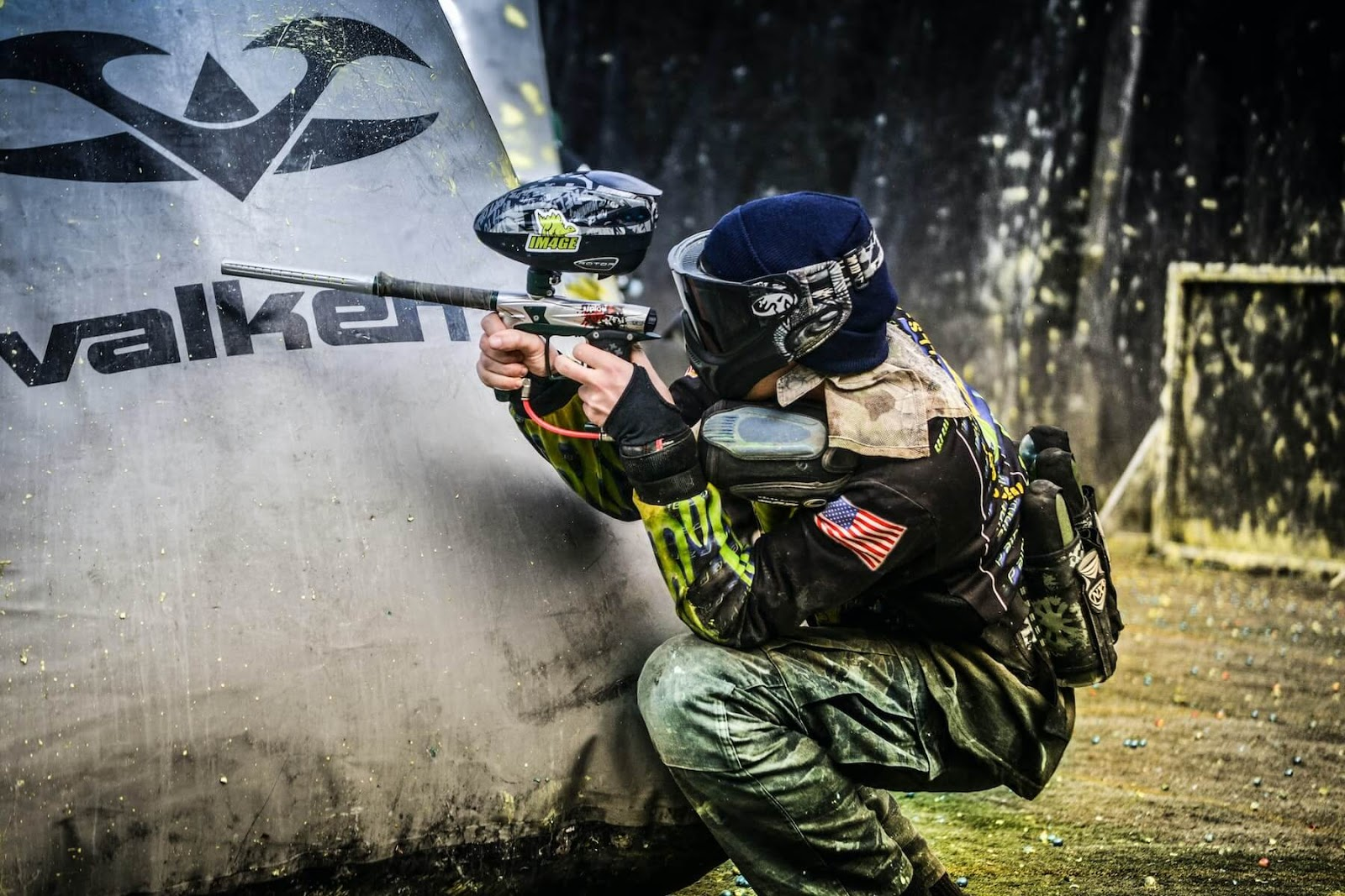 person playing paintball