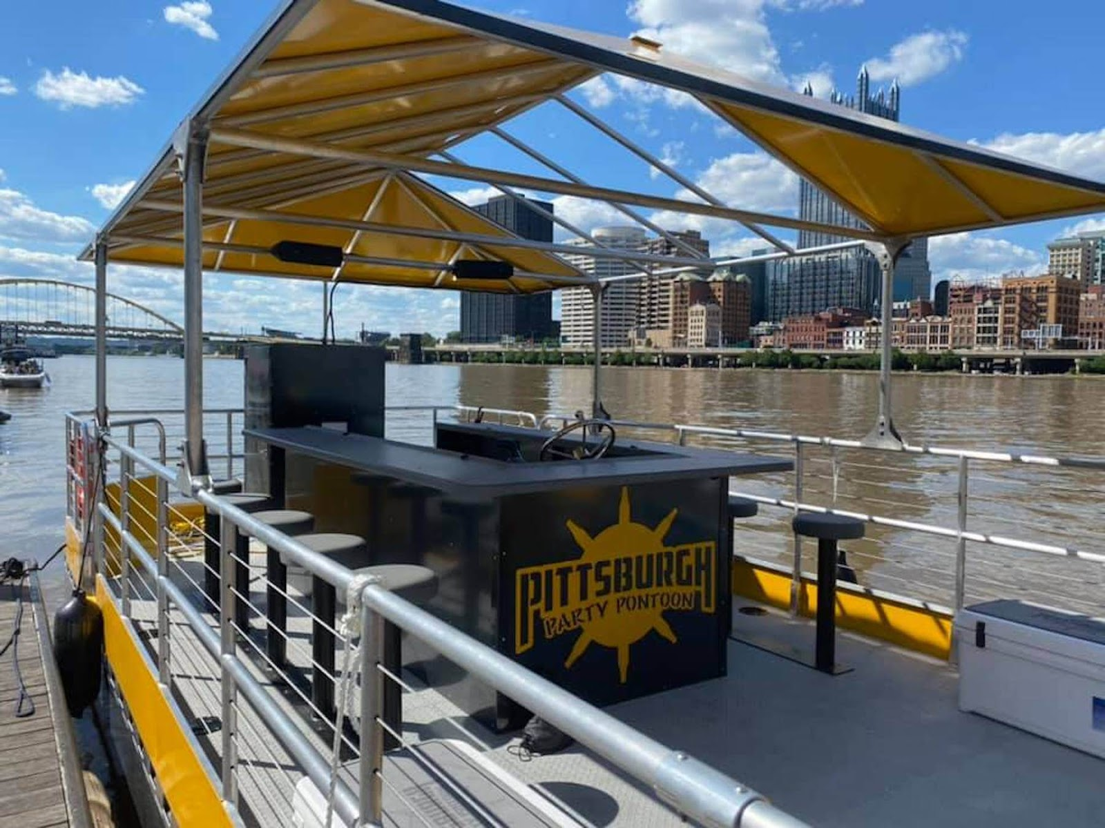 Pittsburgh party pontoon boat