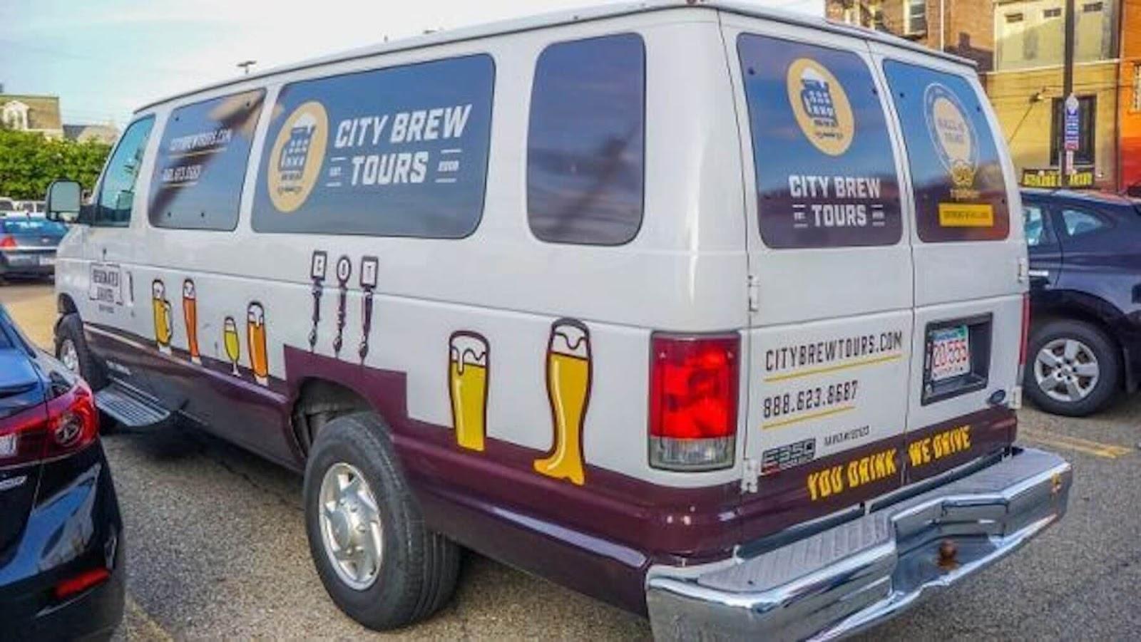 city brew tours van