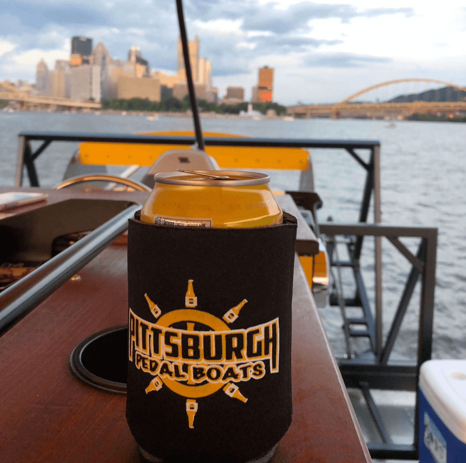 a drink on the Pittsburgh Pedal Bpat