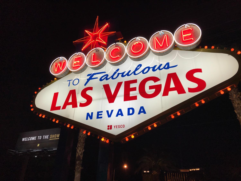 Photo of the famous Las Vegas sign.