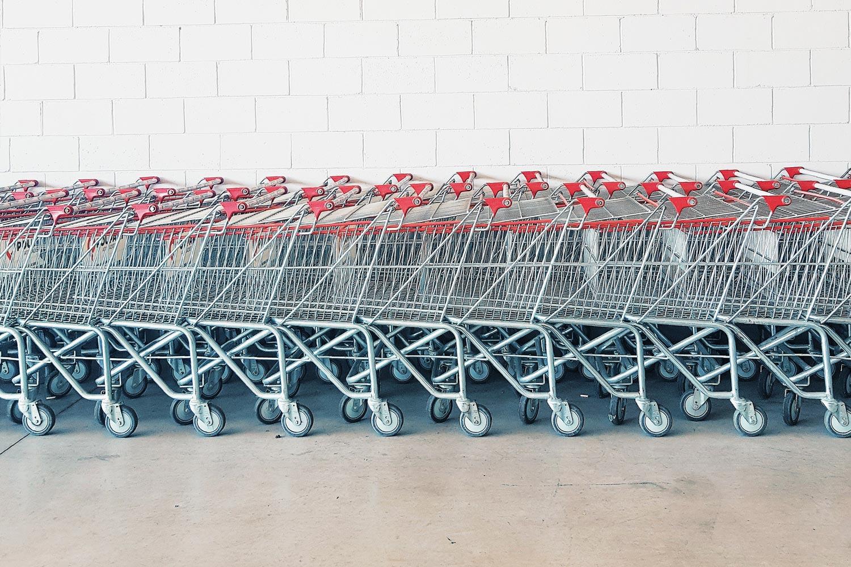 Photo of shopping carts.