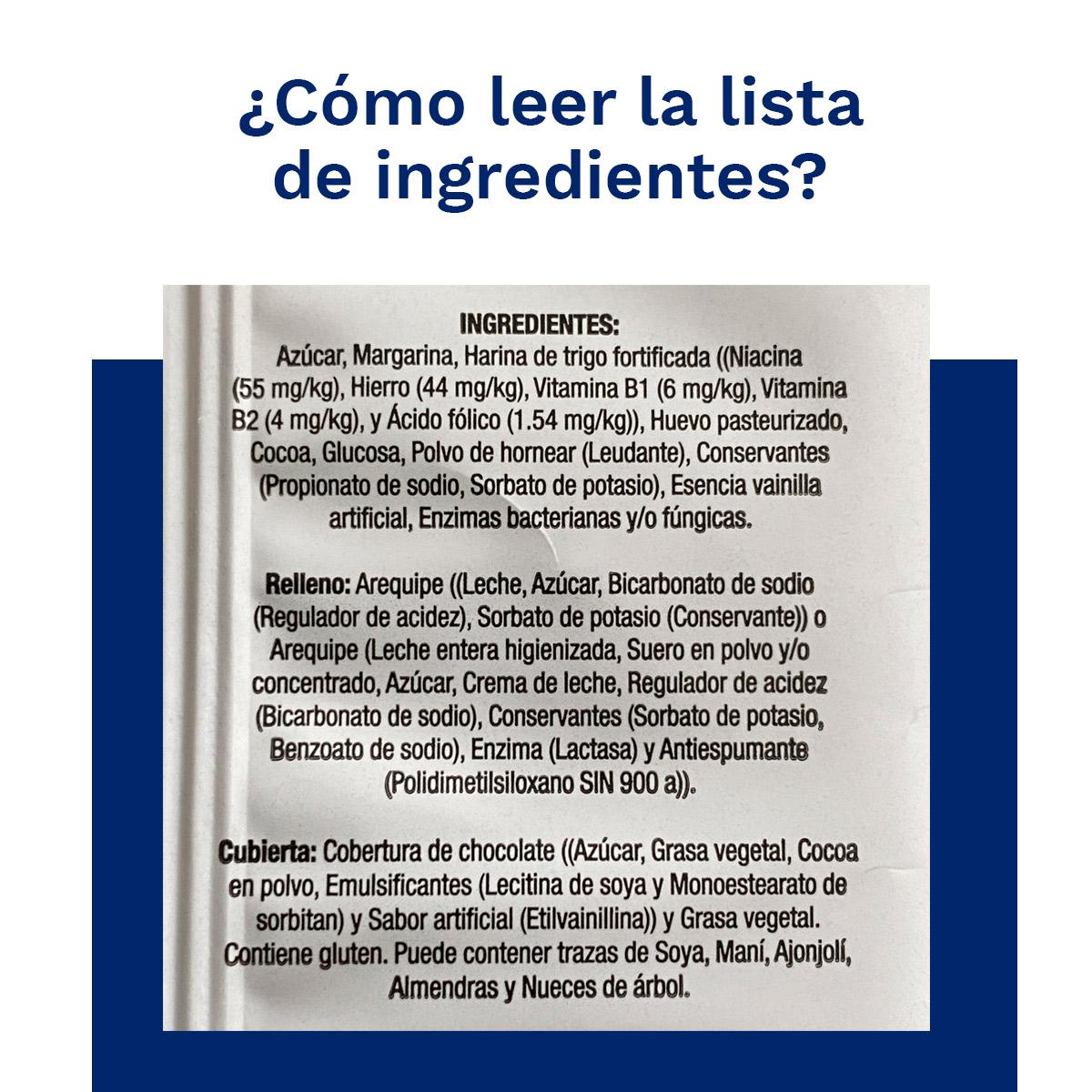 ¿Cómo leer la lista de ingredientes de los empaques?