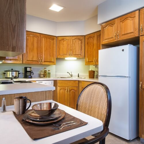 Independent Living Dodge City Manor of the Plains Kitchen Area