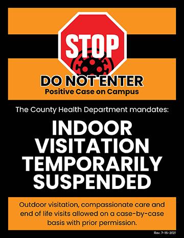 Indoor Visitation Suspended
