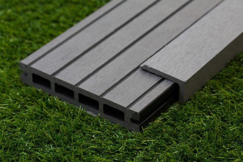 Luxury Grey Composite Wood Decking Kit 2.9m Boards (Reversible)