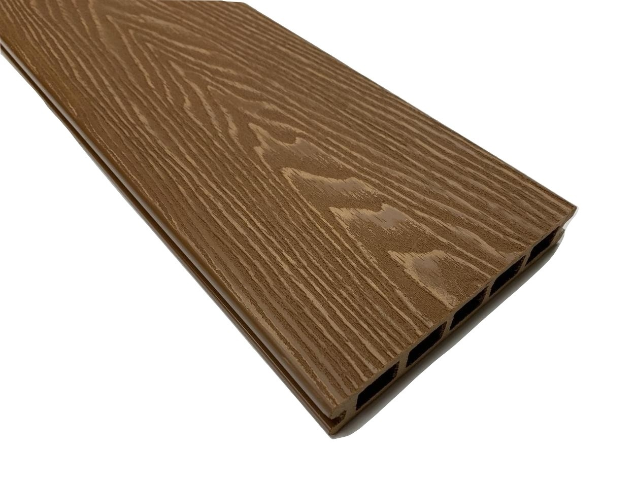 Brown Woodgrain Composite Decking Kit 3.6m Boards