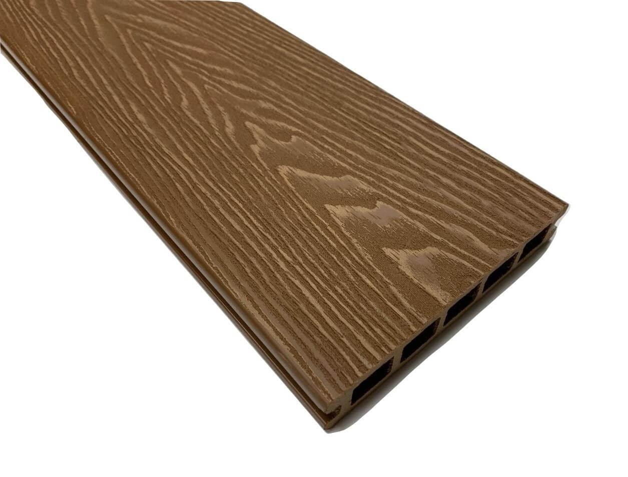 Brown Woodgrain Composite Decking Kit 3.6m Boards