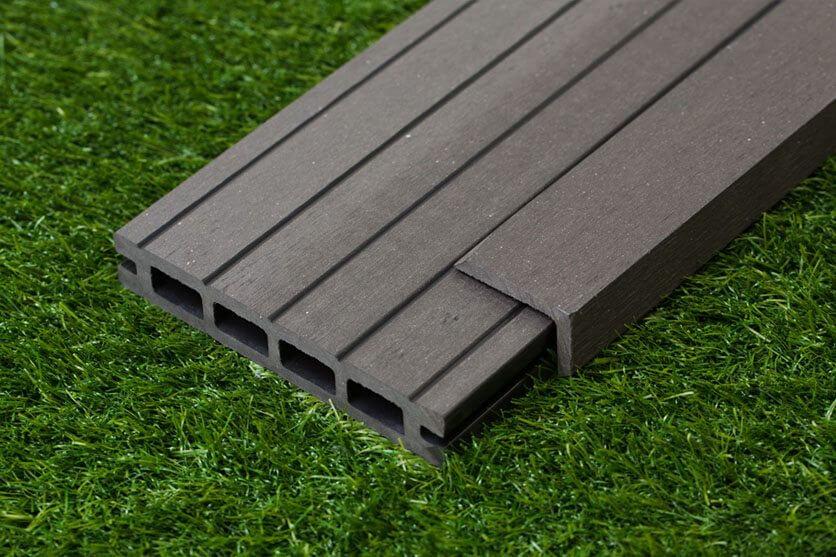 Black Composite Wood Decking Kit 2.9m Boards