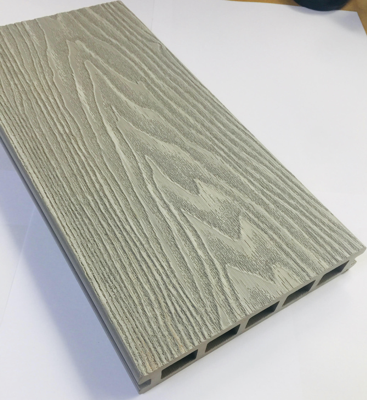 Light Grey Woodgrain Composite Decking Kit 3.6m Boards