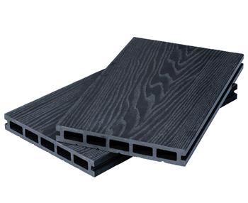 Black Woodgrain Composite Decking Kit 3.6m Boards