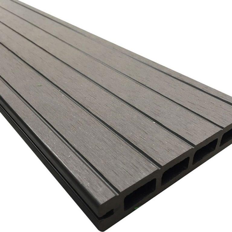 Luxury Black Reversible Composite Wood Decking Kit 2.9m Boards (Price per sqm/£25 per board)