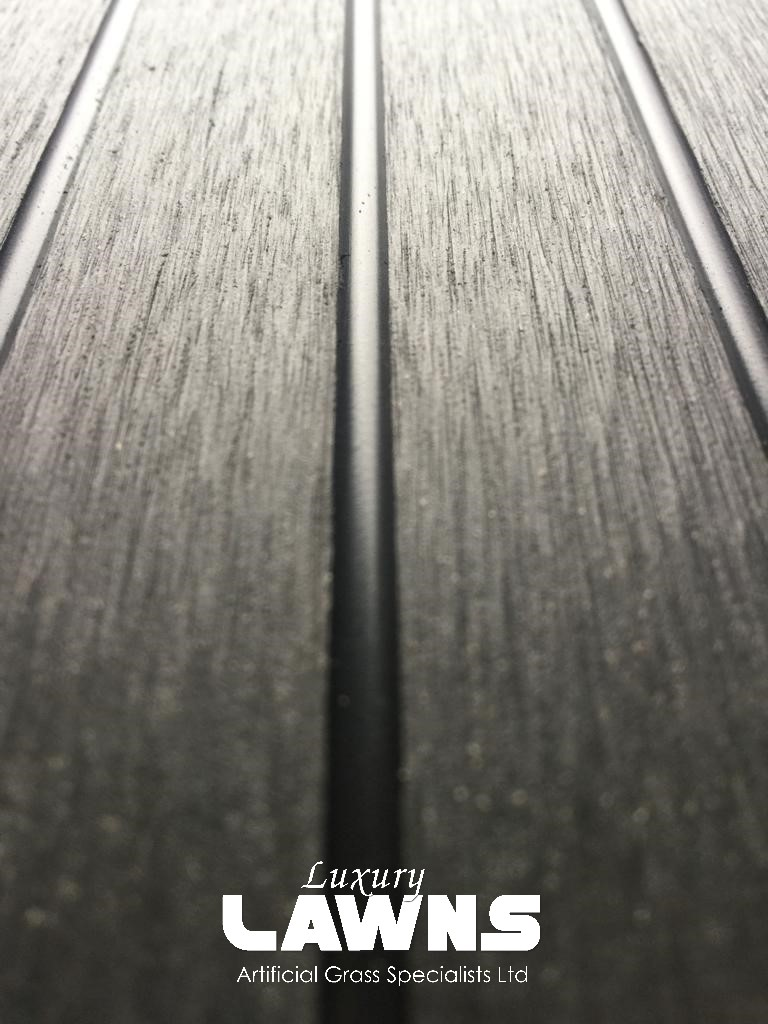 Black Wood Grain Composite Decking Reverse of Board
