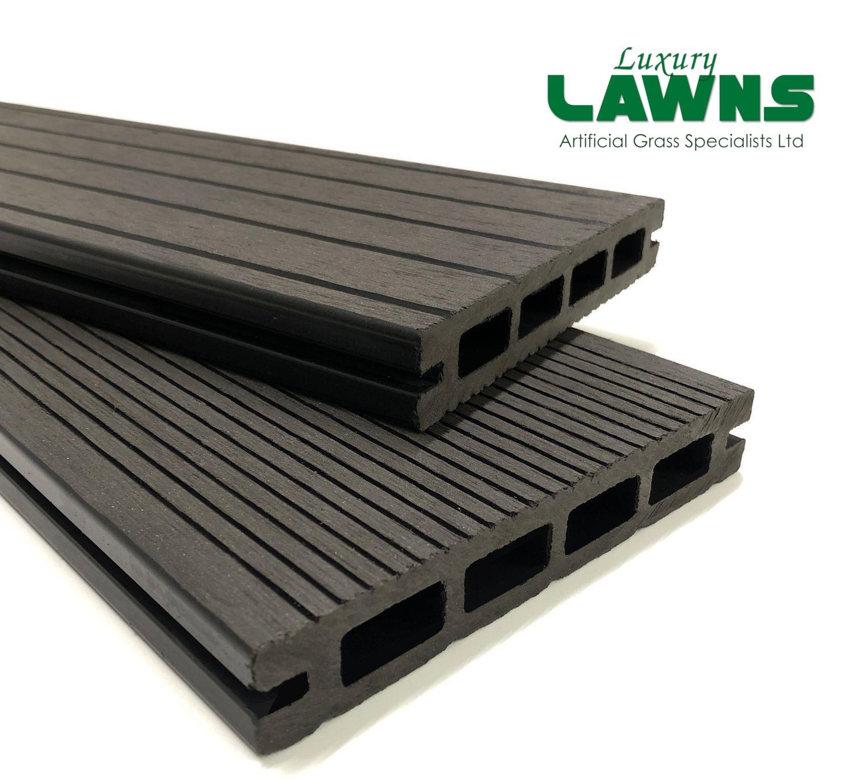 Luxury Black Composite Wood Decking Kit 2.9m Boards (Reversible)