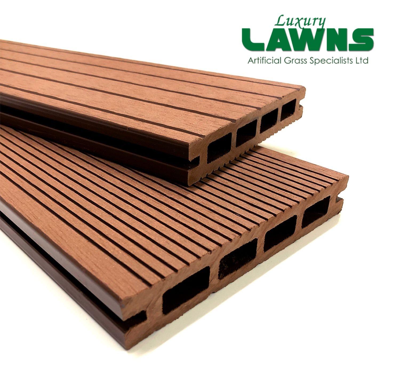 Luxury Brown Composite Wood Decking Kit 2.9m Boards (Reversible)