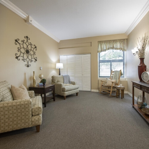 Parsons Presbyterian Manor Assisted Living Sitting Room