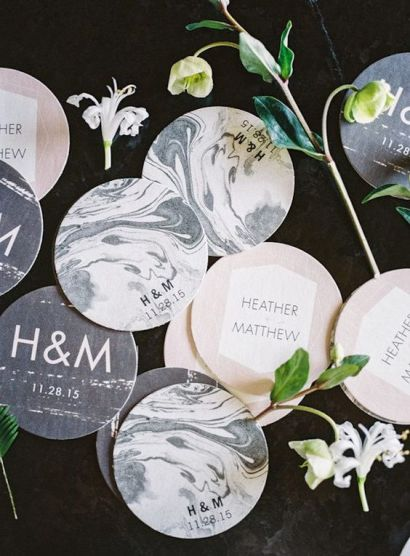 © photo: Jen Wojcik Photography / Design et coordination: To La Lune Events / Papeterie: Wedding Paper Divas