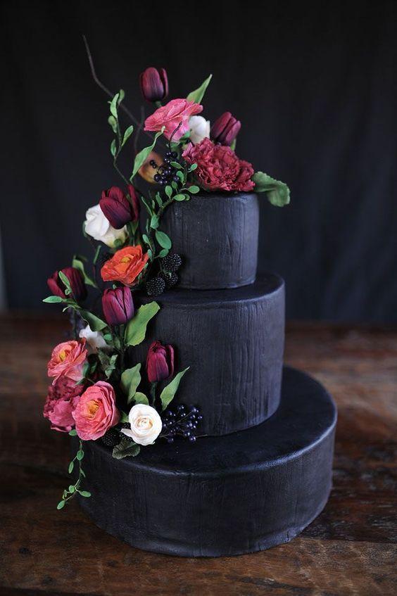 © photo: Megan Noonan Photography / Gâteau: Dulce Custom Cakes / Fleurs: Loda Floral Design