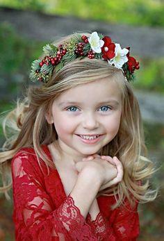 © photo et couronne de fleurs: Little Lady Accessory