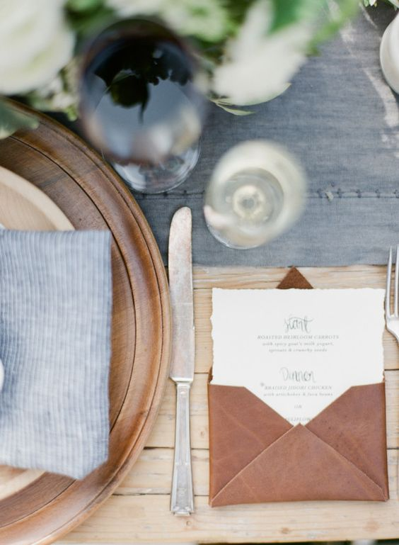 © photo: Bryan Miller Photography / Design et coordination: To La Lune / Menu: Lovely Paper Things